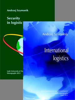 ZESTAW: International logistics (2014) oraz Security in logistic systems (2014)